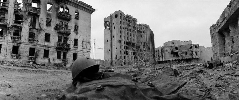 De verwoeste Tsjetsjeense hoofdstad Grozny, 1994. Beeld Sygma via Getty Images