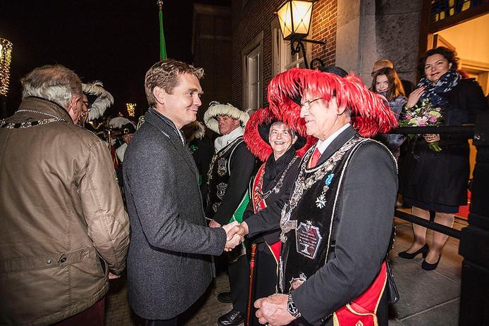 Ontvangst burgemeester Van Veen in Gemert