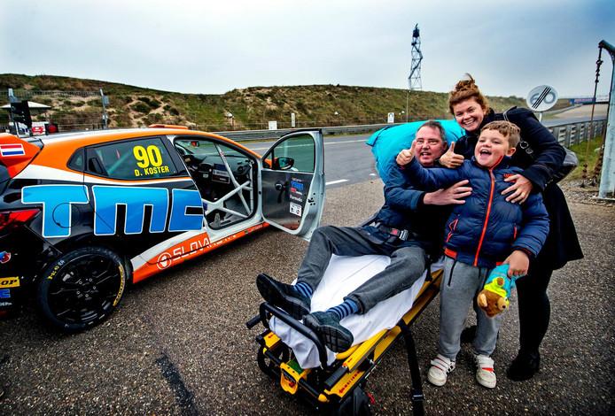 Marco Scheffers op Zandvoort met echtgenote Claire en zoon Lucas. 'Wat is dit schitterend!'