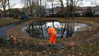 Vijver stadspark heraangelegd