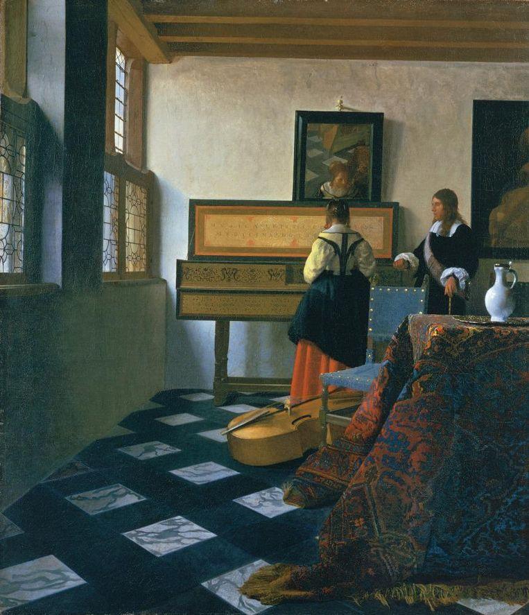 'De muziekles' van Johannes Vermeer Beeld TRBeeld