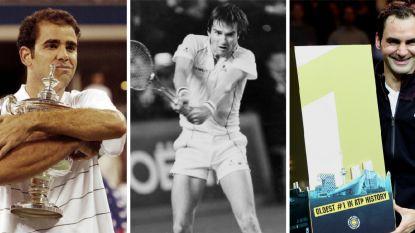 Opa's aan de tennistop: de tien oudste nummers 1 in beeld