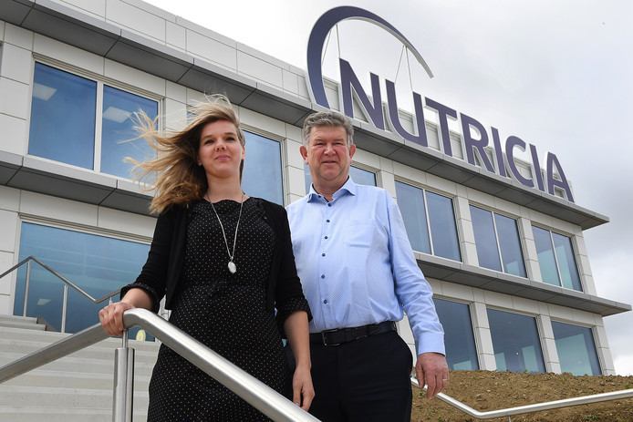 Cris en Corine Verberkt (vader en dochter) werken allebei bij Nutricia