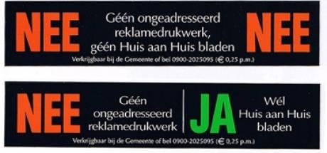 Den Bosch is géén Amsterdam dus komt er géén Ja/Ja-sticker