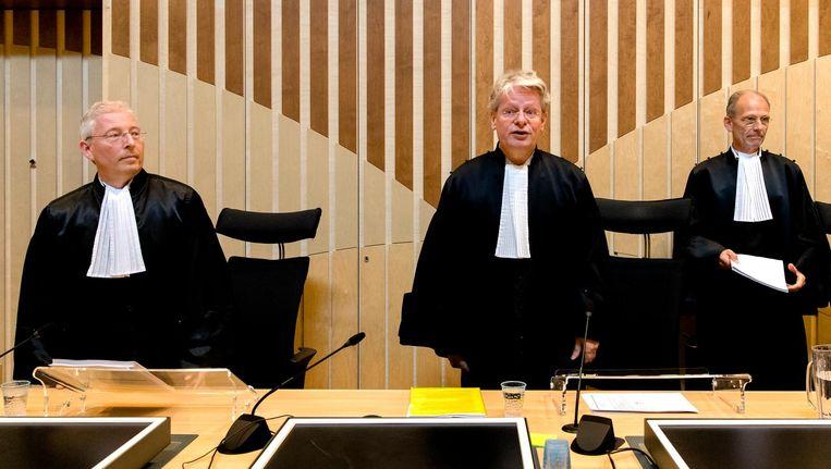 De rechters voor de uitspraak van het liquidatieproces Passage. Beeld anp