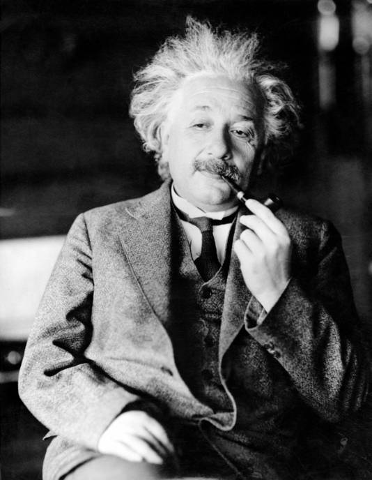 Einstein eind jaren twintig van de vorige eeuw, zo'n tien jaar voor het uitbreken van de Tweede Wereldoorlog.