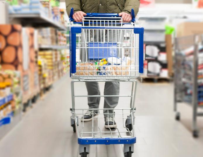 stockpzc stockadr boodschappen supermarkt eten drinken winkelwagen levensmiddelen armoede