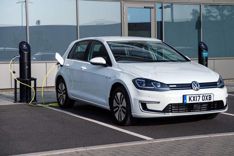 De elektrische Volkswagen Golf