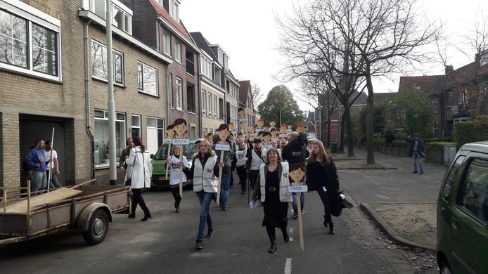 Protest van Thebe in Breda.