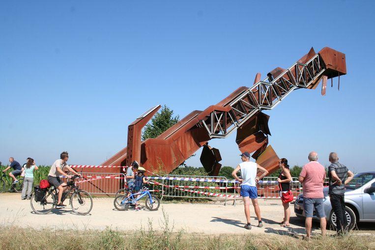 Vooral de buitenbekleding van de toeristische attractie in Tielt-Winge is beschadigd.