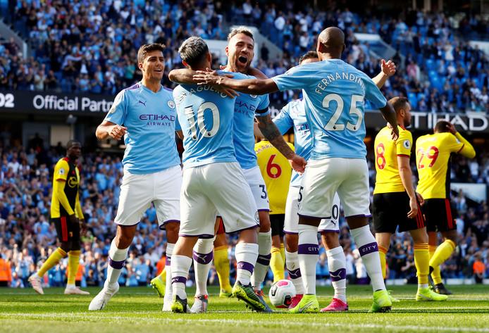 Manchester City viert feest.