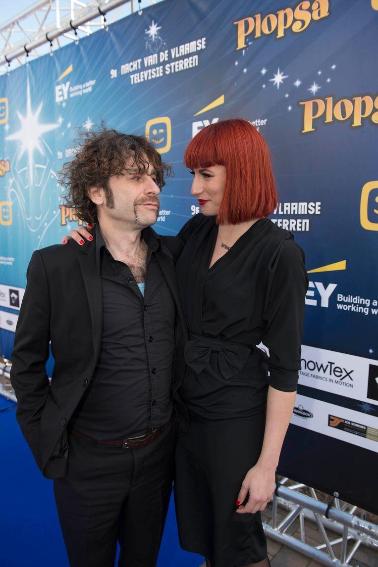 Bart Vanneste met zijn vriendin.