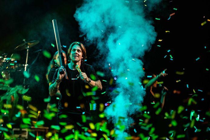 André Hazes trad op in de Nederlandse Brabanthallen, zijn eerste show sinds de corona-lockdown.
