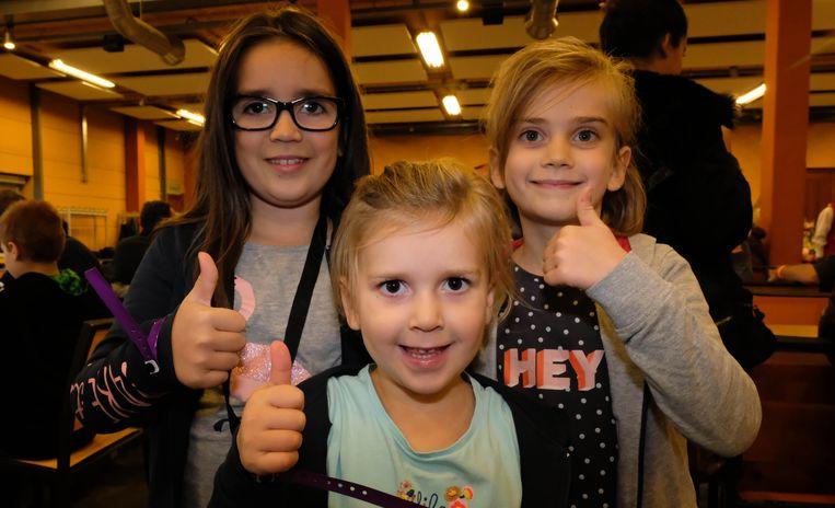 De zusjes Alyssia, Amelyne en Laurynn Arents beleefden een topdagje.