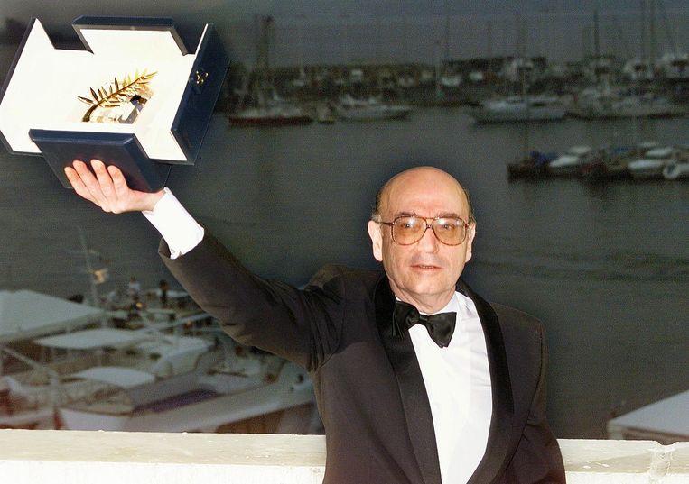 Angelopoulos won in 1998 de Gouden Palm voor 'L'éternité et un jour'.