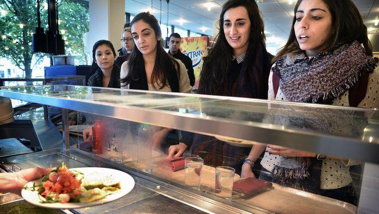 Vleesvrije dag bij Raboud Universiteit Beeld Marcel van den Bergh