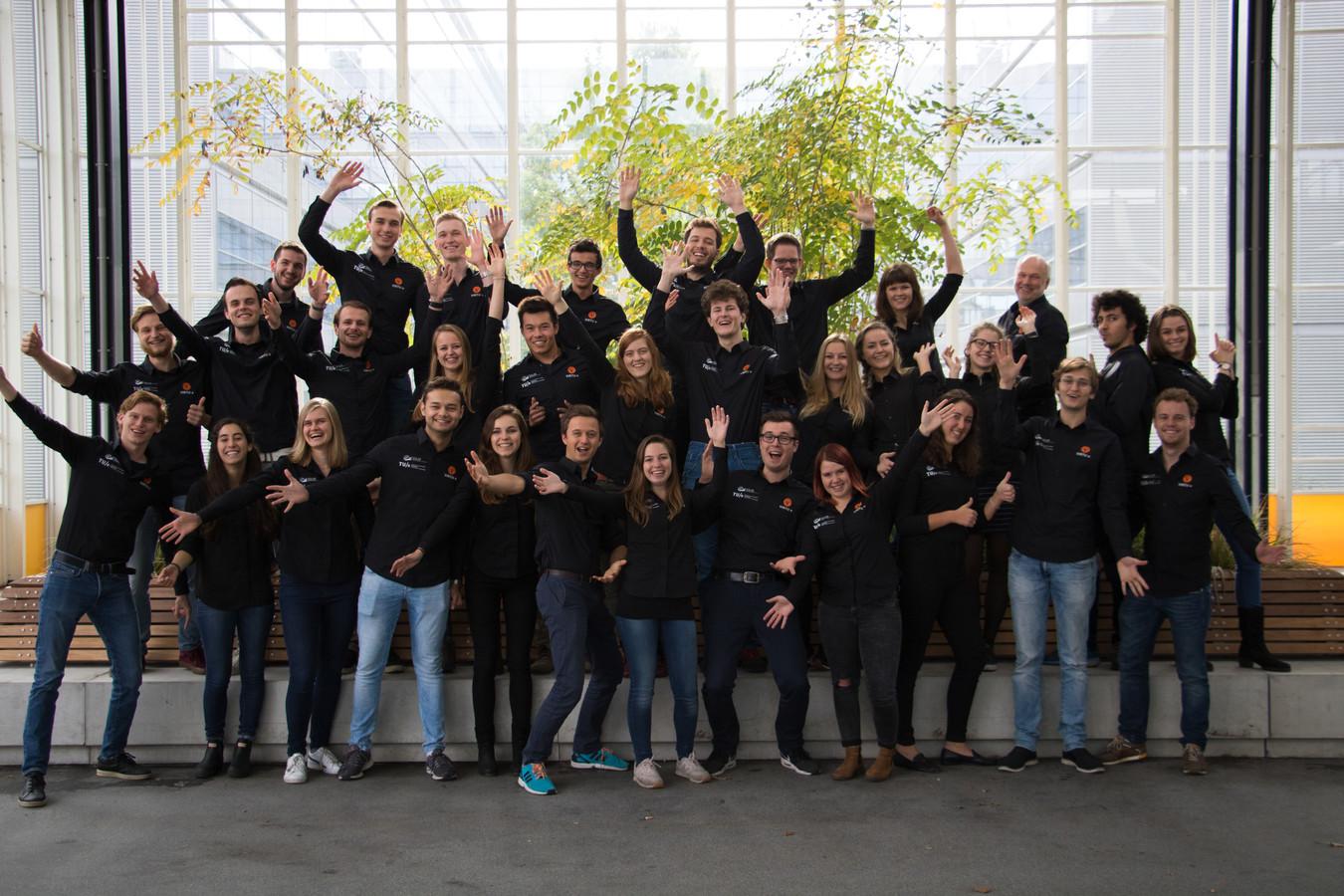 Het bijna complete Team VirTue van de TU Eindhoven.