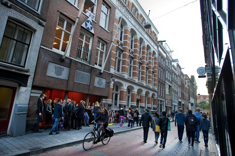De sociëteit van ASC/AVSV aan de Warmoesstraat in Amsterdam-Centrum.