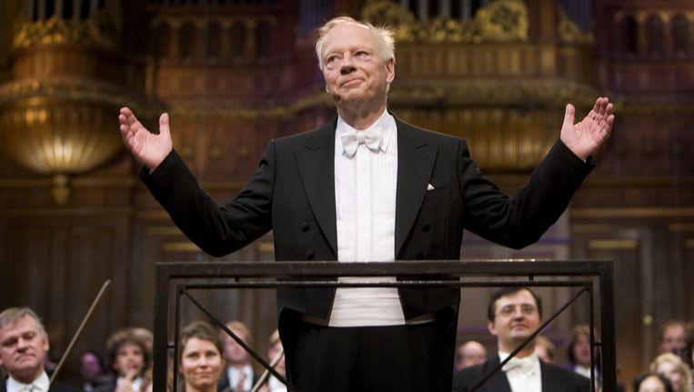 Dirigent Bernard Haitink in 2006 in het Concertgebouw. Beeld ANP