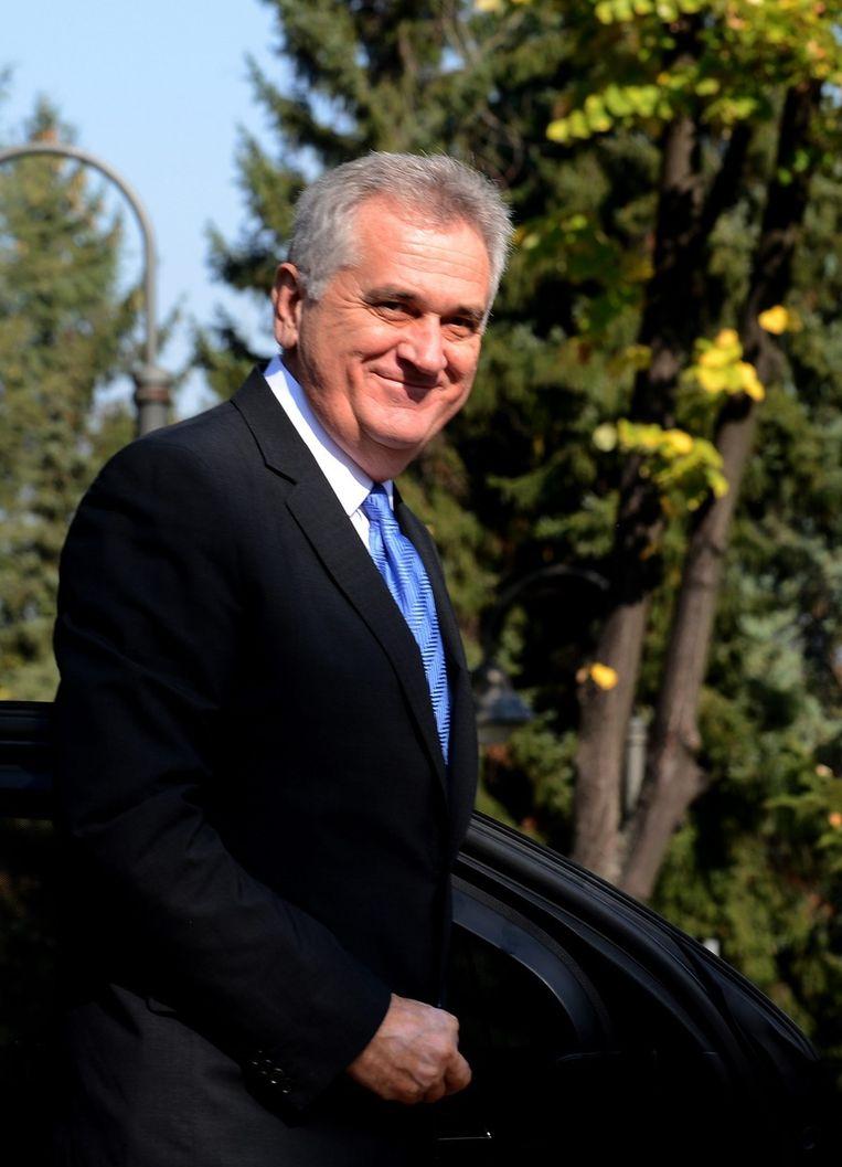 De Servische president Tomislav Nikolic. Beeld epa