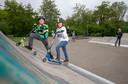 Mocne Hofhuis (rechts) en David Viguurs willen een nieuwe skatebaan in park Noordwest.