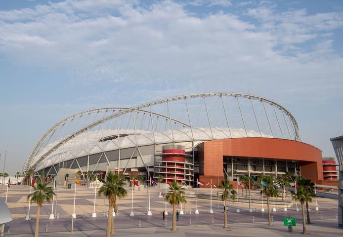 Het stadion waar het WK plaatsvindt.
