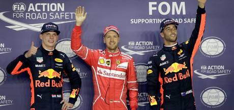 Vettel stoot Verstappen op de valreep van poleposition