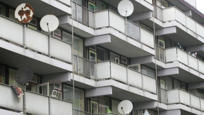 Schotelantennes kunnen flats beschadigen