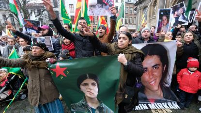 600 Koerden betogen tegen Turkse bezetting