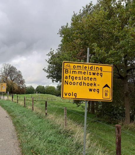 Nóg twee wegen dicht, sluipen tussen Heinkenszand en Goes is nu vrijwel onmogelijk