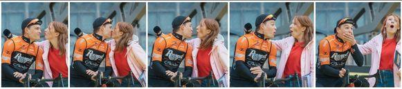 Linde Merckpoel en Stijn Steels deelden per ongeluk een kus.