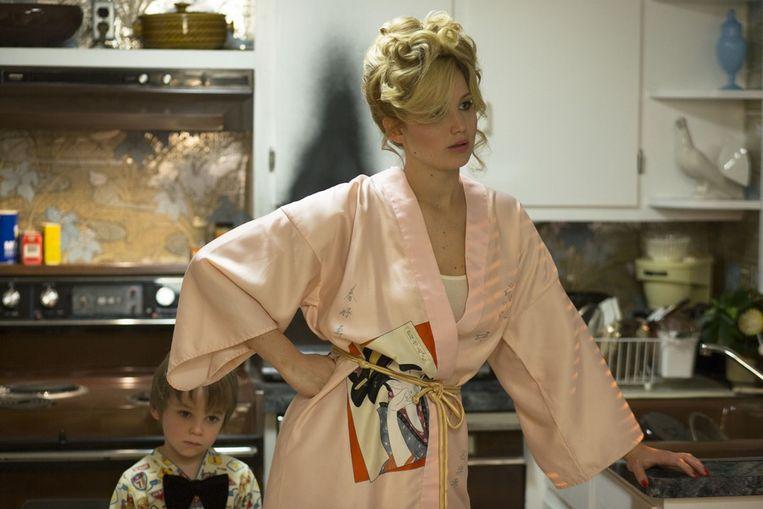 Jennifer Lawrence in American Hustle Beeld Still uit American Hustle