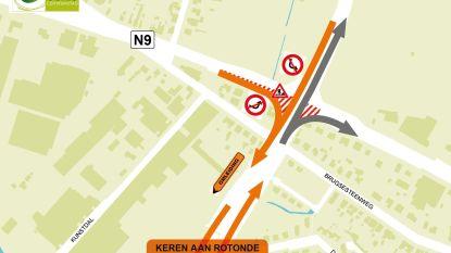 Maandag werken aan kruispunt 'Den Teut' (maar niet tijdens de spits)