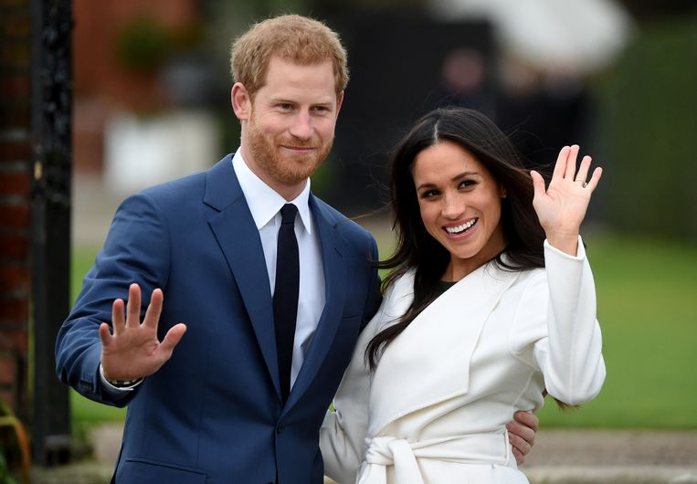 Prins Harry en Meghan Markle. Beeld null