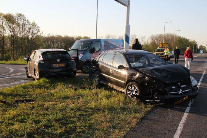 Aanrijding in Holten bij de A1.