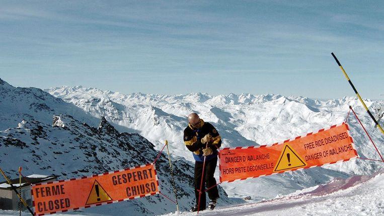 Het getroffen gebied in de Franse Alpen. Beeld epa