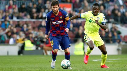 Barcelona met veel moeite voorbij Getafe, briljante ingeving Messi maakt het verschil