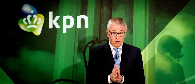 Eelco Blok leidde KPN sinds 2011. Buitenlandse activiteiten werden afgestoten. Maximo Ibarra volgt hem in april op. Beeld ANP