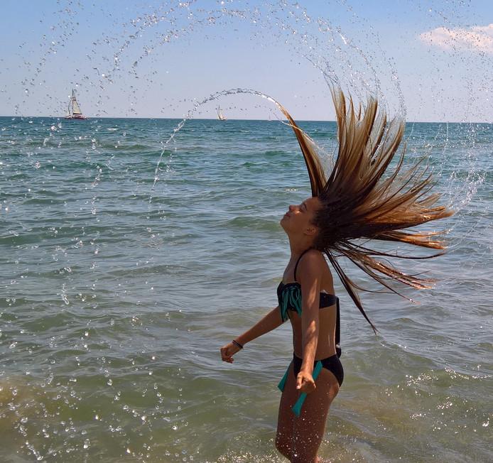 Tijdens onze vakantie in Frankrijk is de traditie om ook naar het strand te gaan. Dan schiet je soms mooie plaatjes..