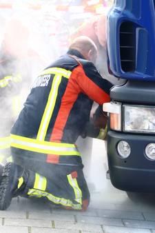 Geldtransportwagen vat vlam in Gouda