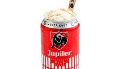 """Zondag kan u gratis Jupiler-ijs op de kop tikken: """"Zo koel is ons nieuwe blikje dus"""""""