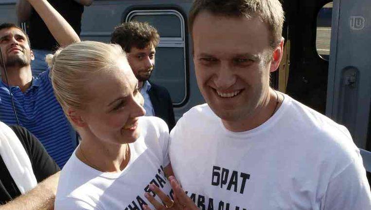 De anti-corruptieblogger Alexei Navalni Beeld reuters