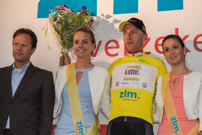 Jos van Emden op het podium in Goes.