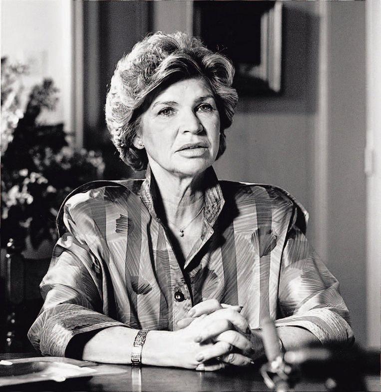Hank Heijn doet 4 december 1987 via de televisie een oproep aan de ontvoerder(s) van haar man. Gerrit Jan Heijn is dan 86 dagen zoek. Foto GPD Beeld