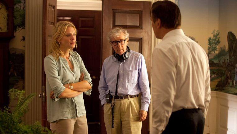 V.l.n.r. Cate Blanchett, Woody Allen en Alec Baldwin. Beeld ap