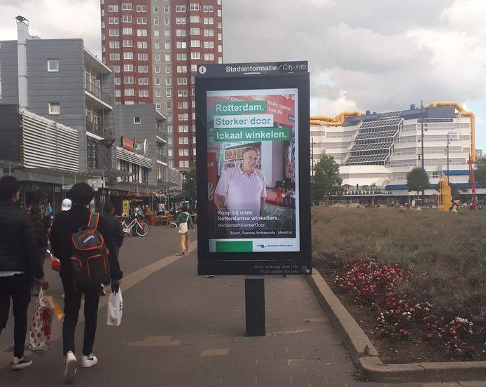 De campagne die oproept om lokaal te winkelen.