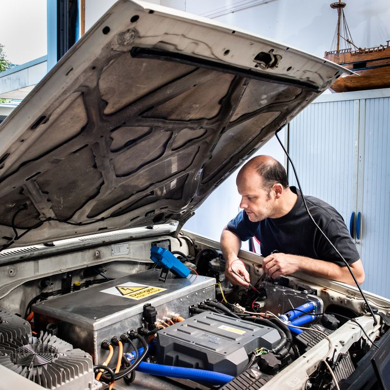 Een Klassieke Volvo Met Een Elektromotor Het Kan Bij New Electric