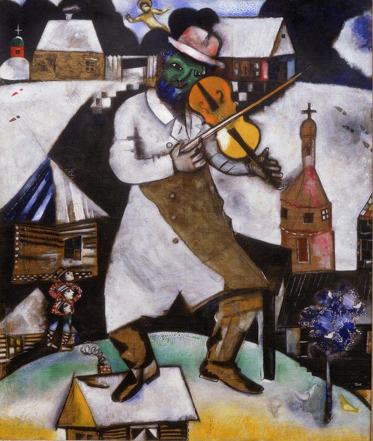 Marc Chagall, Le violoniste, 1912-13, collectie Stedelijk Museum Amsterdam Beeld Stedelijk Museum Amsterdam