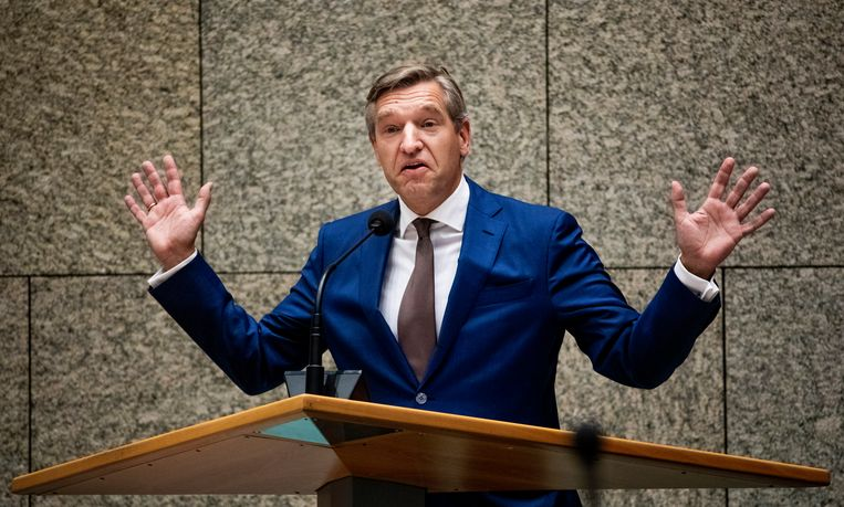 DEN HAAG - Sybrand Buma (CDA) tijdens het debat over de dividendbelasting. FREEK VAN DEN BERGH Beeld