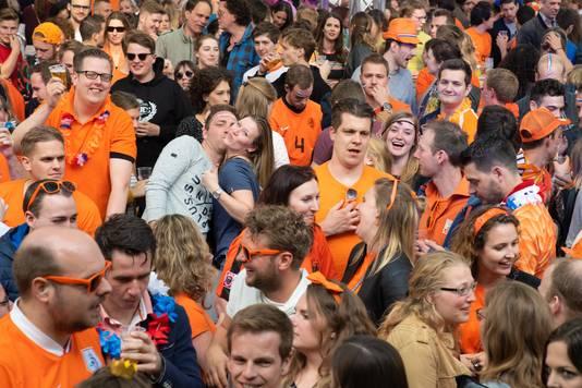 Koningsdag op het Faberplein in Nijmegen.
